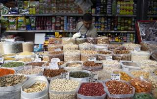 Photo: Pulses for sale at Rome's Esquilino market.