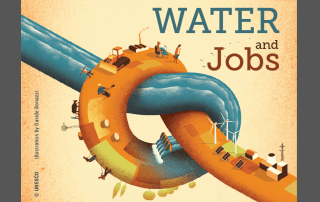 """Image: Cover of the 2016 World Water Development Report, """"Water and Jobs"""" report"""