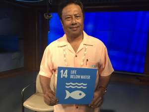 Photo: Palau President Tommy Remengesau supports Goal 14.