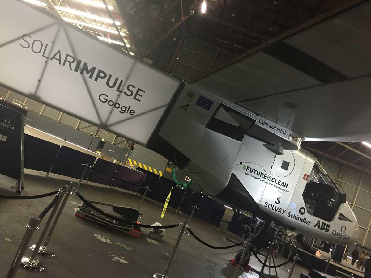 Photo: The Solar Impulse aircraft awaits its next flight at JFK Airport in New York