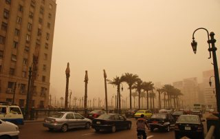 Air pollution in Cairo, Egypt.