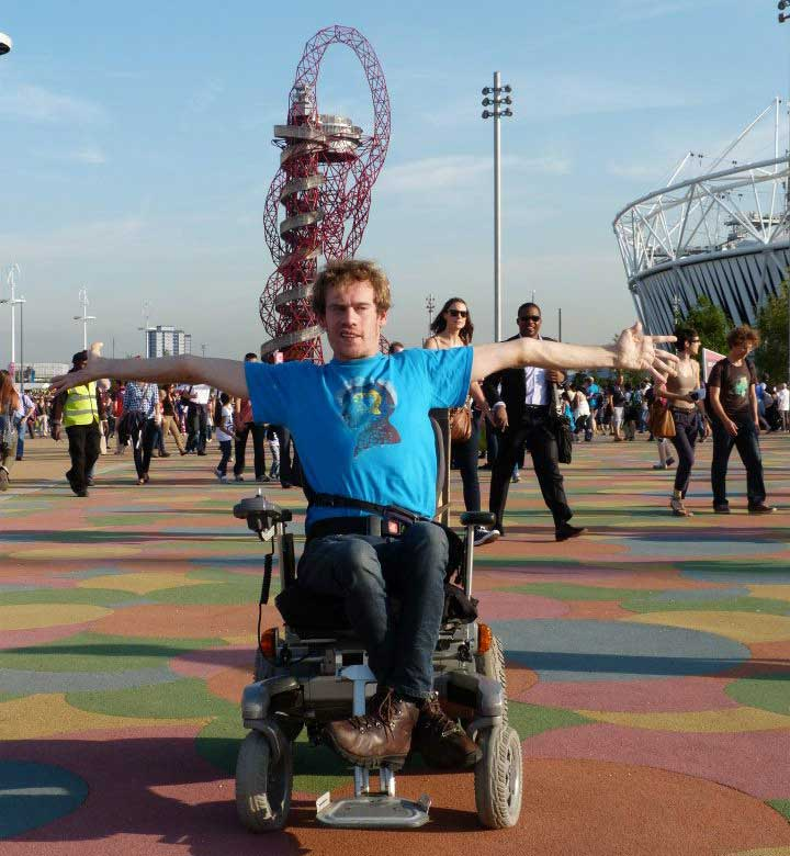 Photo: Anthony Ford-Shubrook, Youth Leader for the SDGs, at the Olympic Park in London.