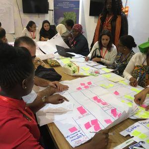 Photo: COP22 participants at work.