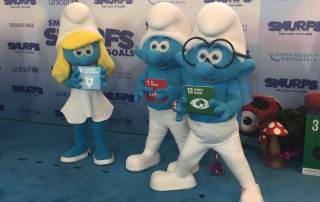Photo: The Smurfs support the Sustainable Development Goals.