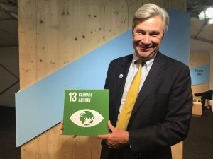 Photo: US Senator Sheldon Whitehouse promotes Climate Action at COP23.