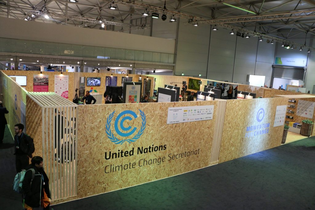 Photo: The UNFCCC space at COP23's Bonn Zone
