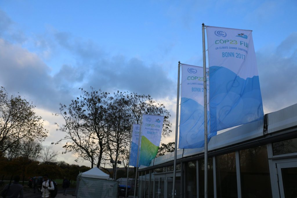 Photo: Flags outside the Bonn Zone at COP23