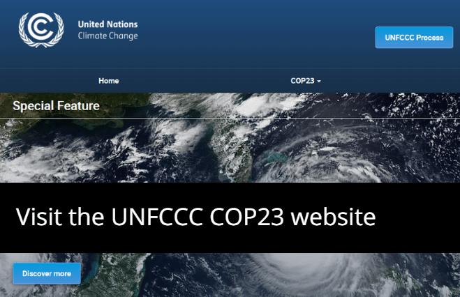 UNFCCC COP23 website