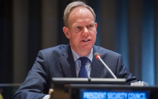 H.E. Mr. Matthew Rycroft, President of the Security Council (Permanent Representative of the United Kingdom to the United Nations)