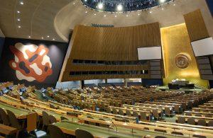 Общий вид зала Генеральной Ассамблеи. Фото ООН / София Париж