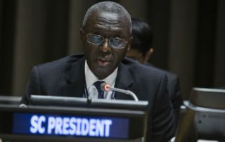 H.E. Mr. Fodé Seck, Permanent Representative of the Republic of Senegal to the United Nations and President of the Security Council for November 2016