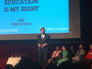 Ahmad Alhendawi speaks at the #UpForSchool youth rally