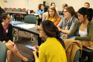Students networking at the conference. Photo credit: MCN