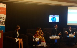 Panel at Germany Intl Youth Voices on Post2015 event