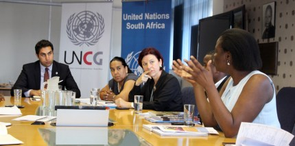 Ahmad Alhendawi with the UN Country Team in South Africa