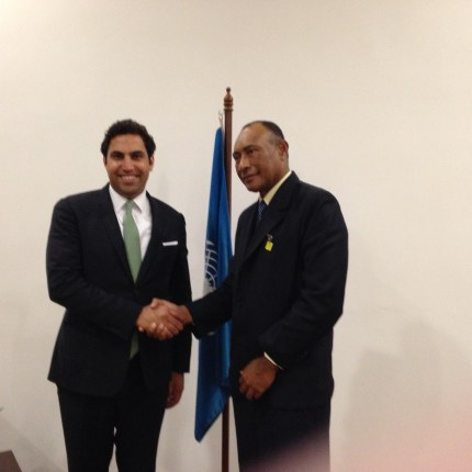 The Secretary-General''s Envoy on Youth with the Minister of Fiji.