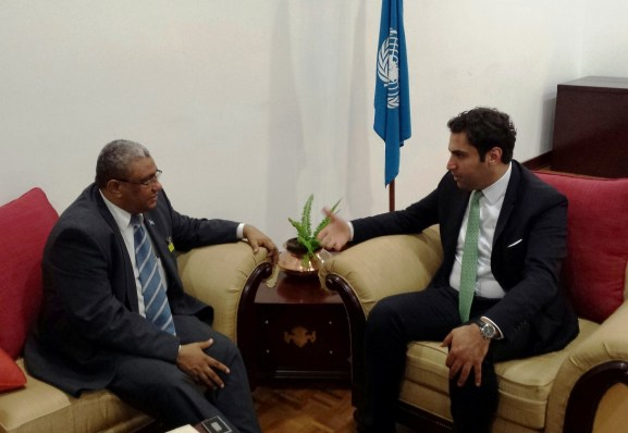 The Minister of Somalia with Alhendawi.