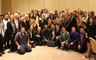 A group shot at the International Stakeholder's Meeting before the First Global Forum on Youth Policies