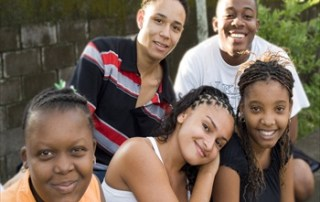 A Group of friends from the Caribbean province of Limon, in Costa Rica. UNFPA Photo