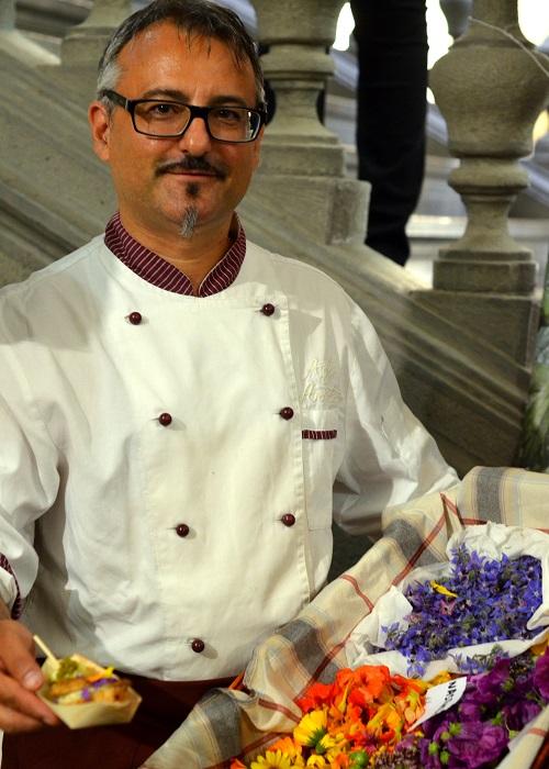 Denis Filaferro del ristorante Agli artisti - Taste the Borders 2014 - ©Alessandra Colaci Una casa in campagna