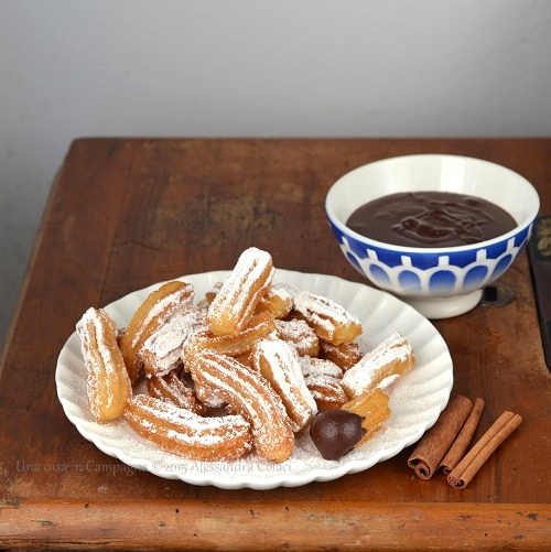 Churros all'olio d'oliva