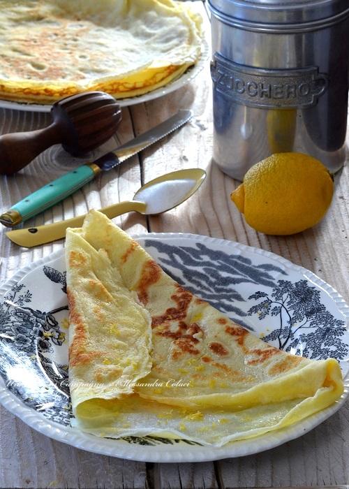 Crêpes dolci con zucchero e limone Alessandra Colaci Una casa in campagna