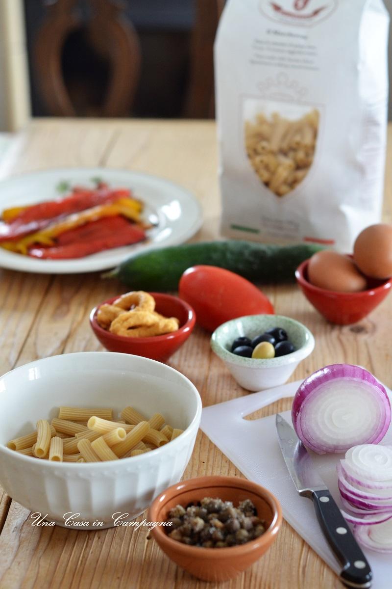 Insalata di pasta fredda con Capunata Molisana Una casa in campagna lpasta di Canossa Alessandra Colaci