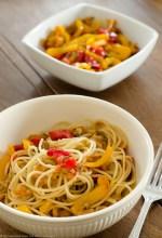 Spaghetti di Canossa con i peperoni ammollicati