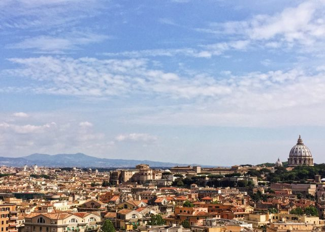 panorama di Roma visto da Piazza Socrate