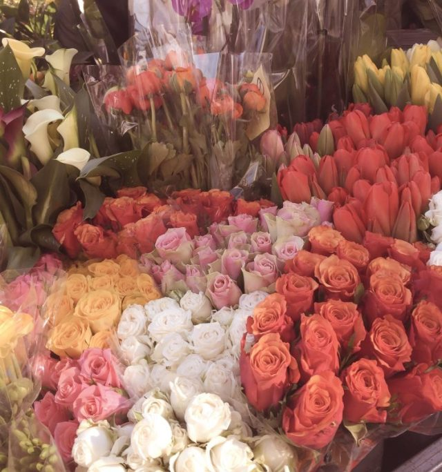 Foto fiori in bancarella di Unadonnaalcontrario
