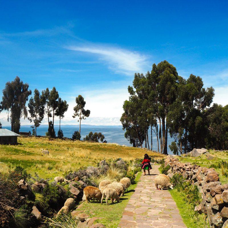 Isola Taquile Puno Lago Titicaca