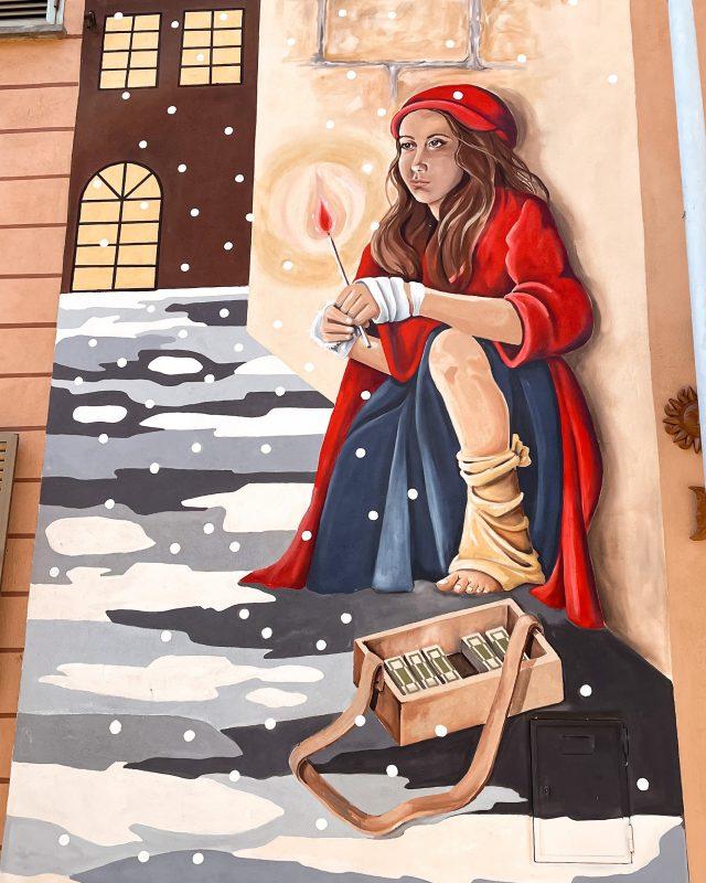 Murale Piccola Fiammiferaia Sant'Angelo di Roccalvecce
