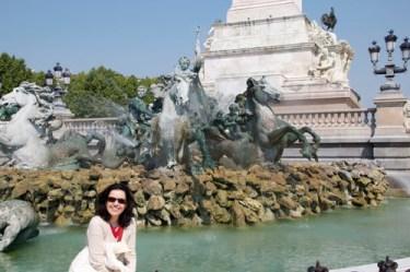 Bordeaux, fontana dei Girondini, in Place des Quinconces