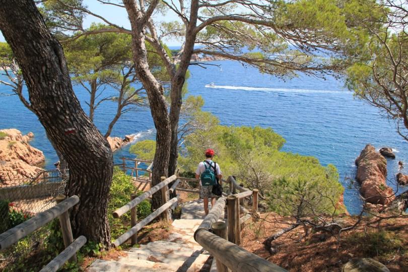 Camì de Ronda sottocosta per raggiungere la Playa de Sant Pol