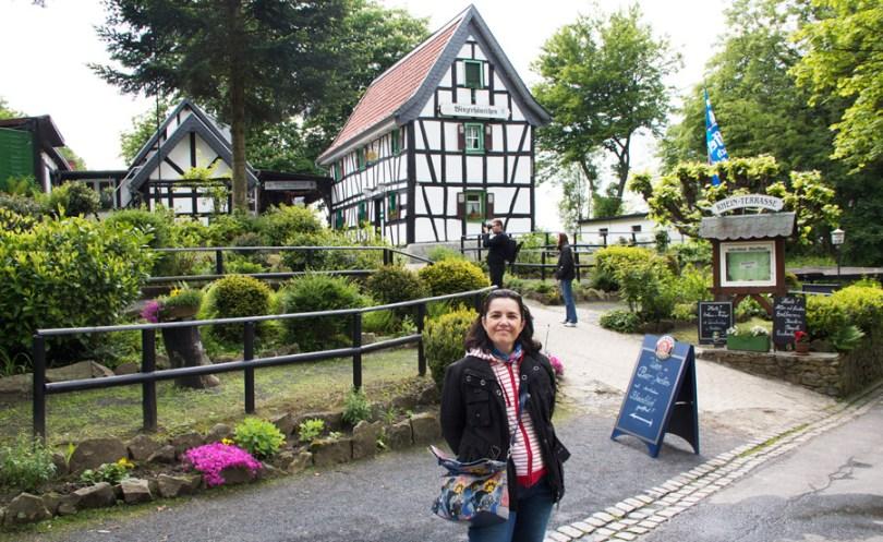case tipiche nel paese di Königswinter