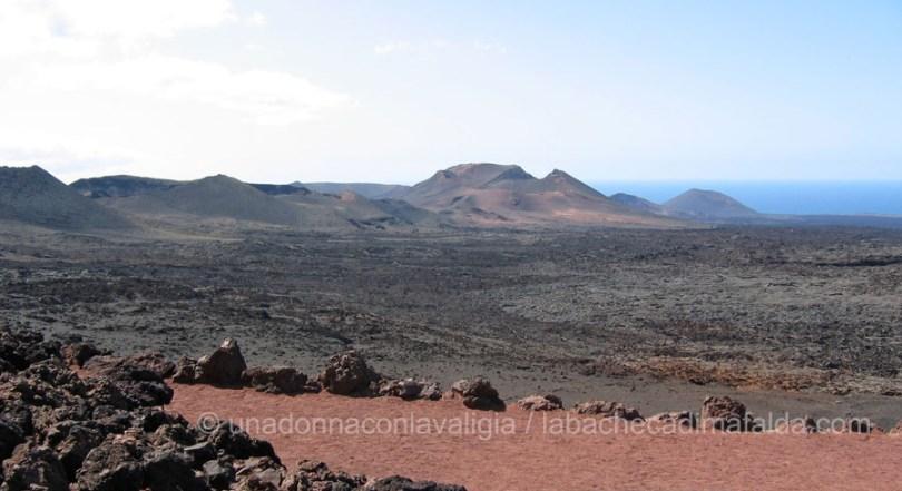 Veduta del parco nazionale del Timanfaya a Lanzarote.