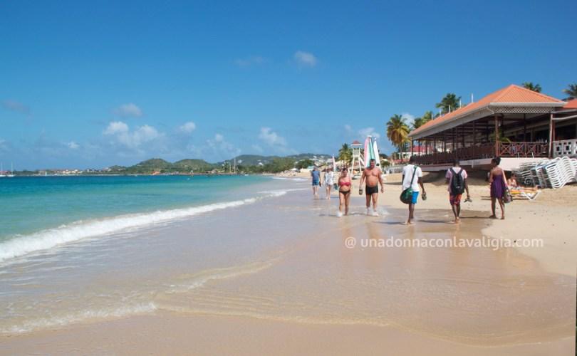 la spiaggia di Rodney Bay