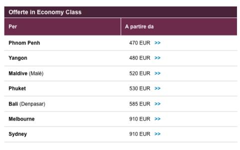 offerte qatar airways