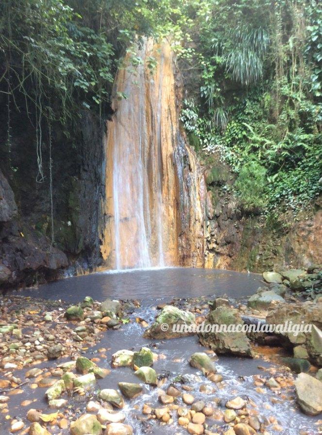 Le Diamond Falls a Saint Lucia