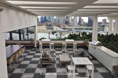 Rooftop terrace Opera Apartments Brisbane