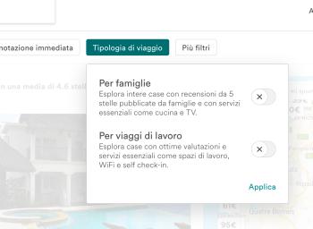Nuove categorie di Airbnb: viaggi per famiglie e di lavoro