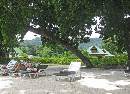 La spiaggia di Anse Reunion