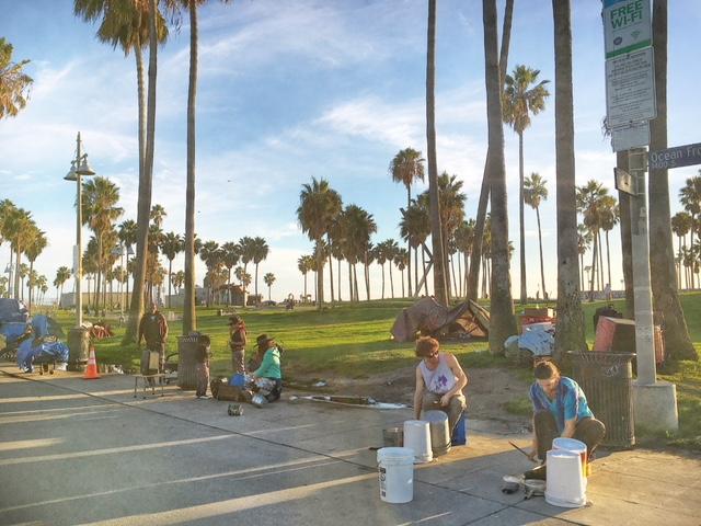 Artisti di strada Venice Los Angeles