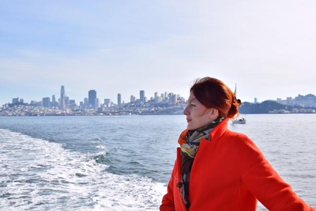 Vista su San Francisco dal traghetto