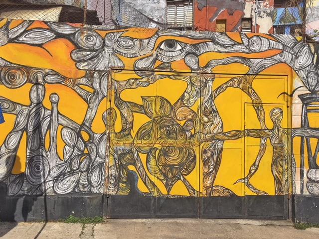 Murales giallo Callejon de Hamel