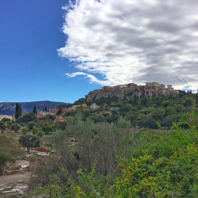 Vista su collina Acropoli Atene