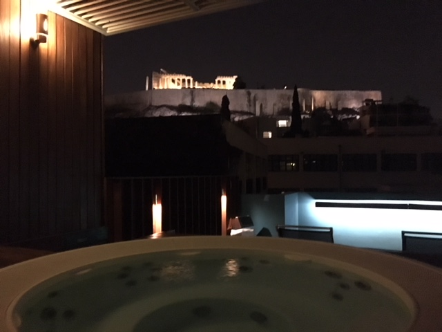Idromassaggio vista Acropoli Hotel Herodion Atene