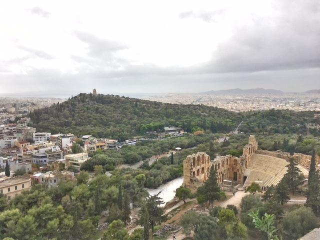 Vista Odeo Erode Attico Acropoli Atene