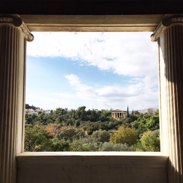 Vista su tempio Efesto Agorà Atene