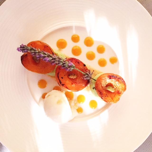 """Dessert lavanda ristorante """"David"""" Roussillon"""